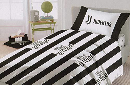 Juventus Completo Letto in Cotone Prodotto Ufficiale Lenzuola Juve Nuova Collezione Singolo
