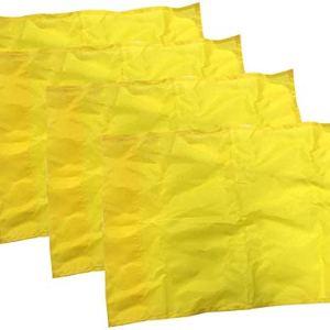 Kosma  Set di 4 bandierine angolari per allenamento 44 x 34 cm colore giallo con 4 clip in plastica imballate in borsa per il trasporto