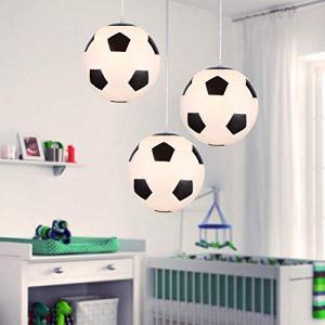 Lampadario di Calcio Plafoniera da Calcio Lampadari Creativa per Camera da dei Appassionati di Calcio 25cm di diametro E27 lampadina non inclusa