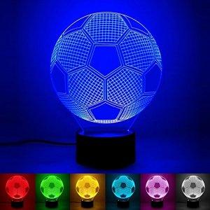 luce di notte del calcio 3D LED lampada visiva dellillusione ottica 3D 7 Cambiare colore Touch  Remote USB tavolo regalo giocattoli decorazioni calcio