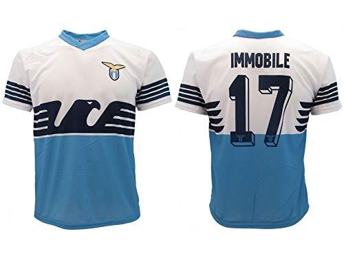 Maglia Immobile Lazio 2019 Ufficiale stagione 2018 2019 Replica Autorizzata Ciro numero 17 SS Aquila Home 10 anni
