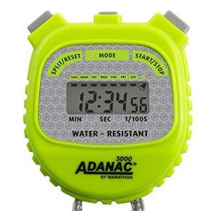 Marathon ADANAC 3000 Cronometro digitale resistente allacqua batteria inclusa verde fosforo