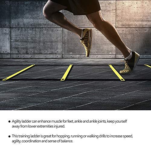 OhhGo scaletta di agilit Regolabile Salto con Gradino funi per Esterni Fitness velocit Attrezzature per lallenamento per Bambini Adolescenti Allenamento per Il Calcio