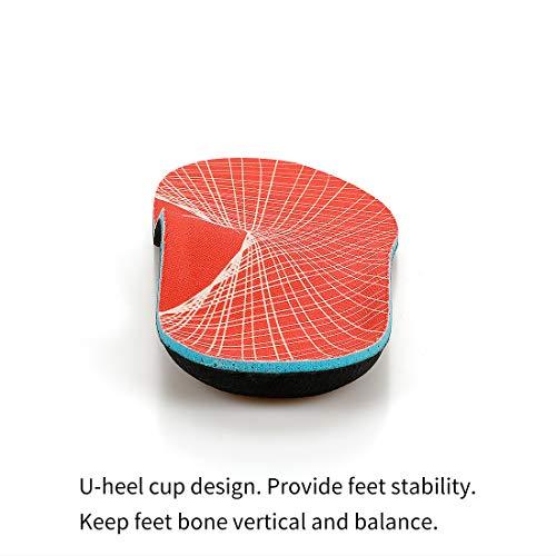 Ortopediche Scarpe SoletteDonnaUomoInserti supporto arco plantari ortopedici Sollievo dolore del piede per Fascite plantare piedi piatti sperone calcaneare 4344 EU 280mm OrangeV125