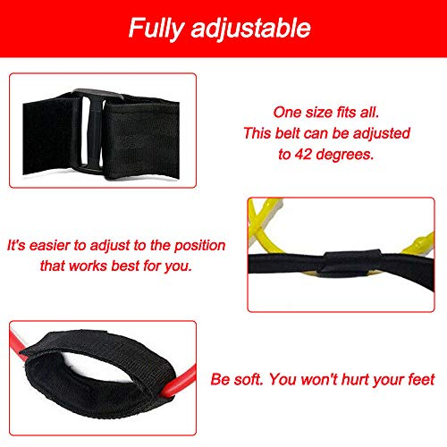 Panthem Fitness Booty Band Glutes fascia di resistenza muscolare fascia regolabile in vita Rosso