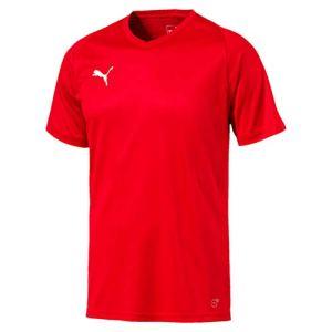 Puma Liga Jersey Core Maglia Calcio Uomo Rosso Red White M
