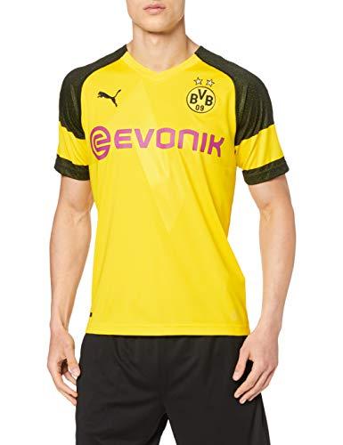 PUMA Maglia Ufficiale Stagione 1920 Borussia Dortmund Home Original con EvonikOpel Logo Calcio Uomo Cyber Yellow S
