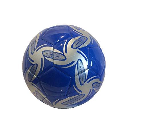 RCG Pallone di Cuoio da Calcio Misura 5 Ecopelle PU Cuoio Sintetico Blu