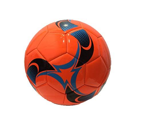 RCG Pallone di Cuoio da Calcio Misura 5 Ecopelle PU Cuoio Sintetico Arancione