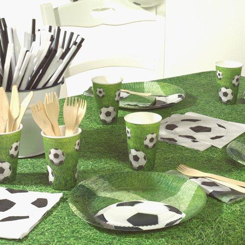Set da 60 pezzi motivo calcio 20 piatti di carta 20 bicchieri di carta e 20 tovaglioli