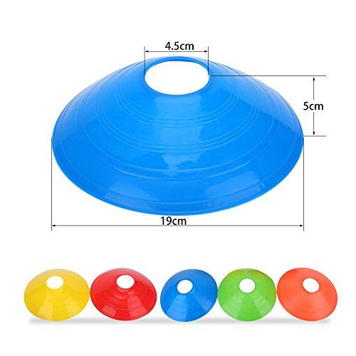 Set di 10 Pezzi Coni del Disco per Allenamento Calcio Coni di Marcatori per Calcio Corsa di Hockey MulticoloreRosso