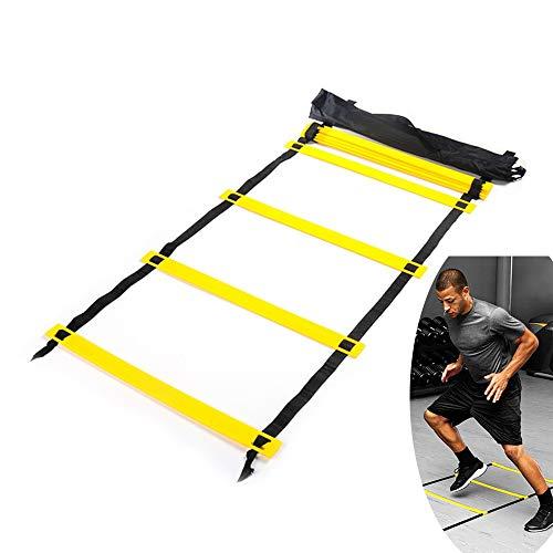 Songlela Scala per Allenamento Calcio Esercizio velocit Formazione Training Ladder Esercizi Agilit e velocit con Portare Borsa Regolabile Scala Agilit 8 Piatti 4M 1