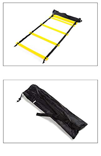 Songlela Scala per Allenamento Calcio Esercizio velocit Formazione Training Ladder Esercizi Agilit e velocit con Portare Borsa Regolabile Scala Agilit 20 Piatti 10M 4