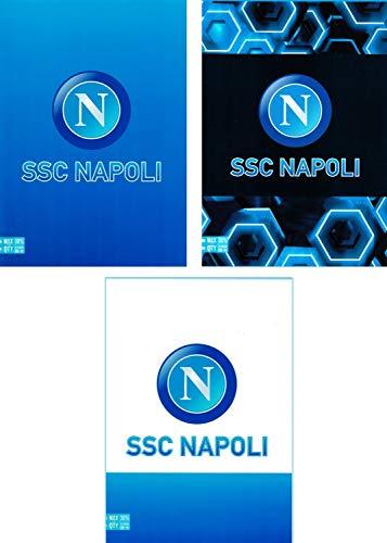 ssc napoli Quaderno Righe con Margini A4 Maxi 96100 Set per la Scuola 30 cm Blu Azzurro Bianco
