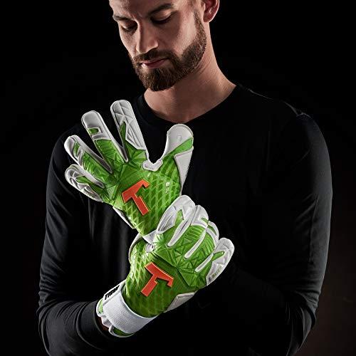 T1TAN Alien Green Devil Guanti da Portiere Professionali  utilizzati in Serie A  Modelli per Uomo  Adulto  Taglia 8