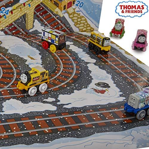Thomas  Friends Calendario Avvento Trenino Thomas 2018  Calendario dell Avvento Ragazzo Il Trenino Thomas Mini Trenino Confezione a Sorpresa con 24 Veicoli Giocattolo con 6