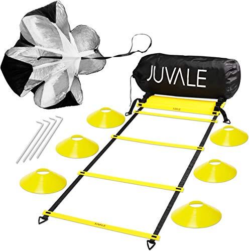 Velocit agilit e setinclude Agility Ladder 6coni a disco resistenza paracadute 4paletti in acciaio e una borsa morbidaper velocit coordinamento allenarsi esplosivit nero giallo