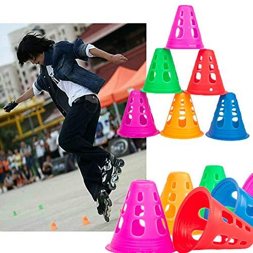 YAVOEU Sport Coni di Addestramento di Traffico di CalcioAttrezzatura Sportiva Set da 50 Pezzi