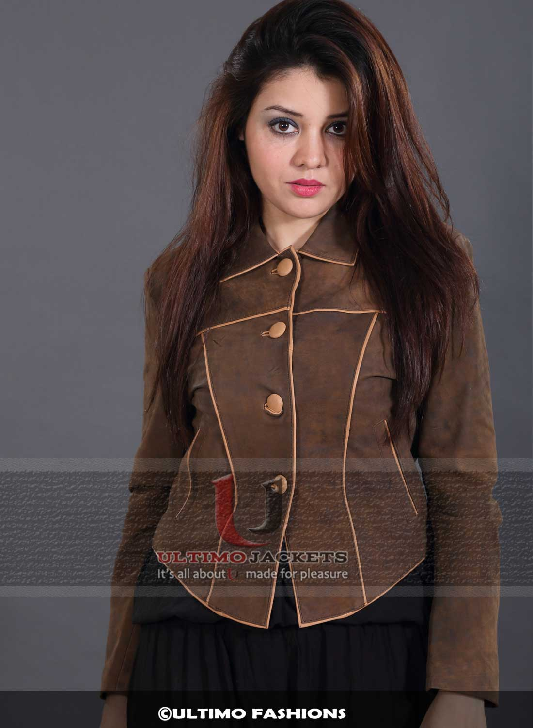 Anne Hathaway Victoria Brown Suede Leather Jacket For Women