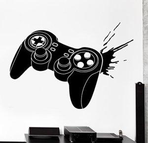 Wall Sticker Gaming Joystick Joypad Controller Gamer Vinyl Decal (z3097) by Wallstickers4you