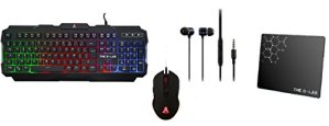 The G-Lab COMBO-HELIUM/FR Pack Gaming complet : Clavier rétroéclairé AZERTY 6 touches anti-ghosting + Souris ultra réactive + écouteurs INT100 ultra immersif + PAD antidérapant.