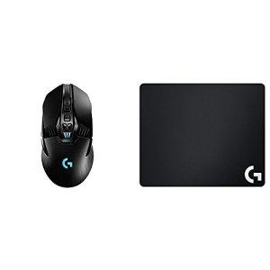 Logitech G903 Gaming Souris sans Fil Compatible avec Le Système de Charge sans Fil POWERPLAY et Lightspeed G640 Tapis de Souris Noir