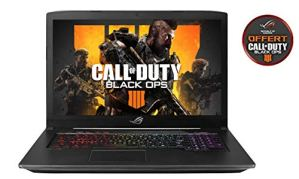 Asus ROG SCAR-GL703GM-EE033T PC portable Gamer 17″ Gris métal (Intel Core i7, 16 Go de RAM, 1To + SSD 256 Go, Nvidia GeForce GTX1060 6 Go, Windows 10) Clavier AZERTY Français