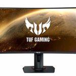ASUS TUF Gaming VG27VQ – Ecran PC Gamer eSport 27″ FHD – Dalle VA incurvée – 16:9 – 165Hz – 1ms – 1980×1080 – Display Port, HDMI et DVI – Haut-parleurs – AMD FreeSync – Extreme Low Motion Blur