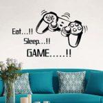 BESLIME Gamer Stickers muraux, Stickers muraux de jeux vidéo pour chambre de garçons, maison, salle de jeux, chambre à coucher, décoration de fond, 2pcs