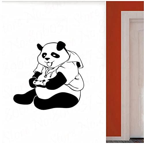 WYLYSD Panda Sticker Mural Ado Chambre Art Décor Jeu Vidéo Stickers Muraux Creative Décoration De La Maison 84X80 Cm