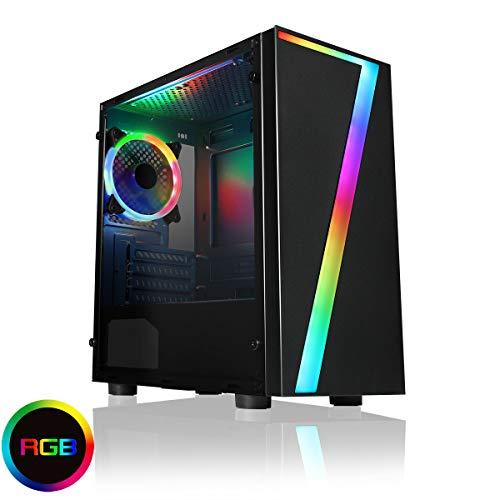 Compatible avec Fortnite – Tour PC de gaming ultra rapide i5 Quad Core 8 Go de RAM 320 Go de disque dur et Wi-Fi Win 10 + carte graphique GT 1030 2 Go