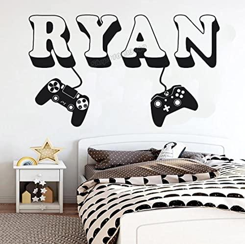 Sticker mural en vinyle pour chambre d'enfant Motif manette de jeu vidéo 57 x 34 cm