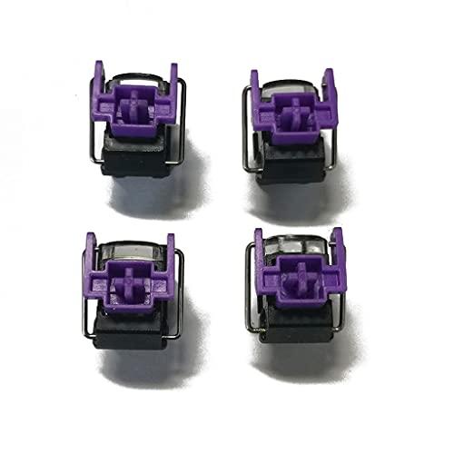 GHBOTTOM 4 Pièces Ra-zer Violet Commutateurs Optiques Commutateur De Remplacement À Chaud pour Huntsman Elite Gaming Commutateurs De Clavier Mécaniques