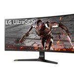 LG UltraGear 34GN73A-B, Moniteur incurvé Gaming 34» 21:9 IPS FHD (2560×1080, 144Hz, 1ms MBR, compatible Nvidia G-SYNC, HDR10, sRGB 99%, HDMI, Display Port, USB 3.0, AMD FreeSync, Ajustable Hauteur)