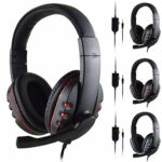 OocciShopp Creative Fashion Gaming Headset Stereo Surround Headphone 3.5Mm Filaire Mic pour Ps4 Laptop Xbox One Casque (Noir Rouge)