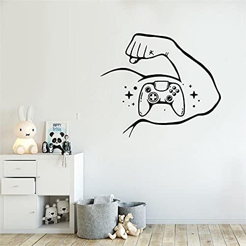 Jeu vidéo sticker mural jeu sur stickers gamer autocollant playstation vinyle autocollant gamer garçon chambre décor gamer cadeau amovible 49x85cm