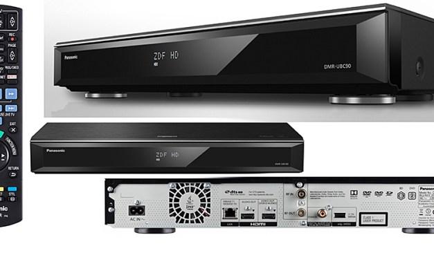 Panasonics neue UHD Geräte-Generation kann spielen, empfangen, aufnehmen und speichern