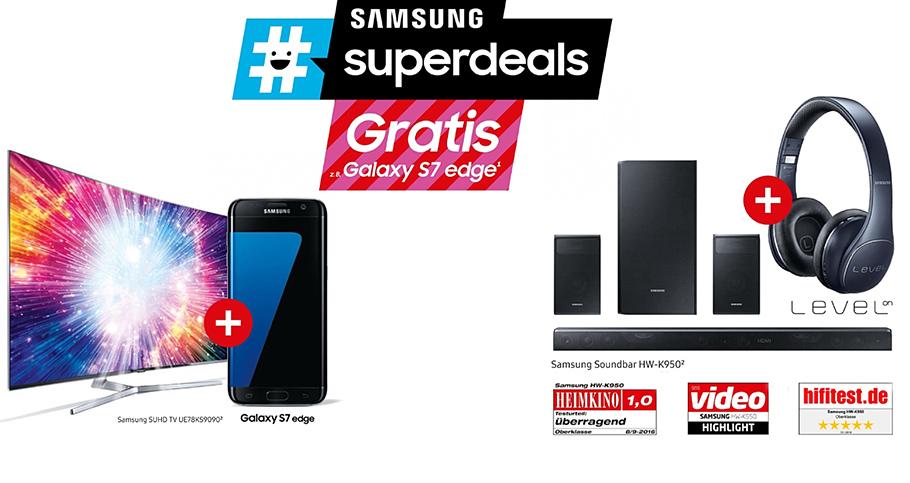 Superdeal: Wer jetzt einen Samsung SUHD-TV kauft, kann auch surfen und telefonieren