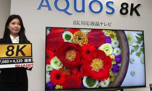 SHARP stellt 8K-TV und rahmenlose, aufrollbare Displays vor