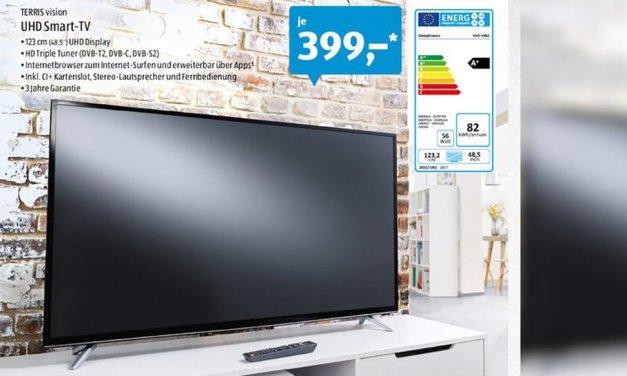 Aldi Süd verkauft UHD Smart-TV für 399 Euro!