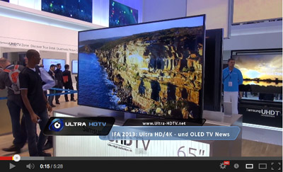 Samsung 4K OLED IFA Video