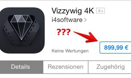 iPhone 5S: 4K-Videos mit Vizzywig 4K App für 899,99 Euro?