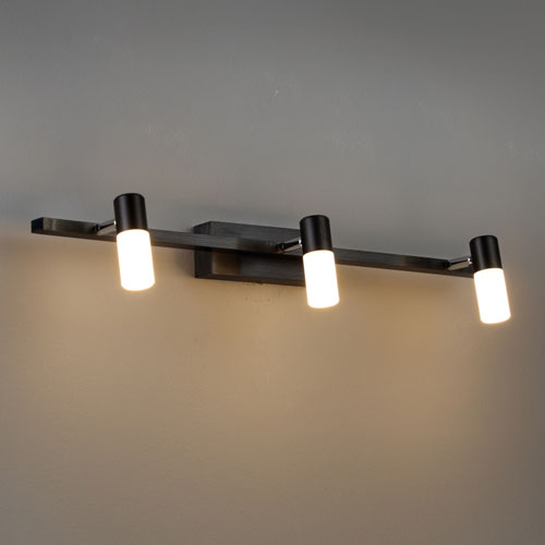 LWA194 Black LED mirror light