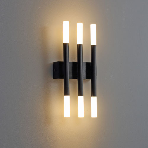 lwa241 6 watt black led wall light
