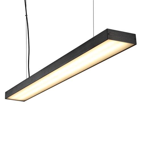 LPL160-BK 40 watt black linear pendant light