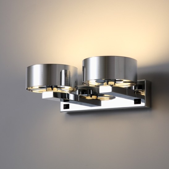 LWA299 Twin chrome bedside led reading light