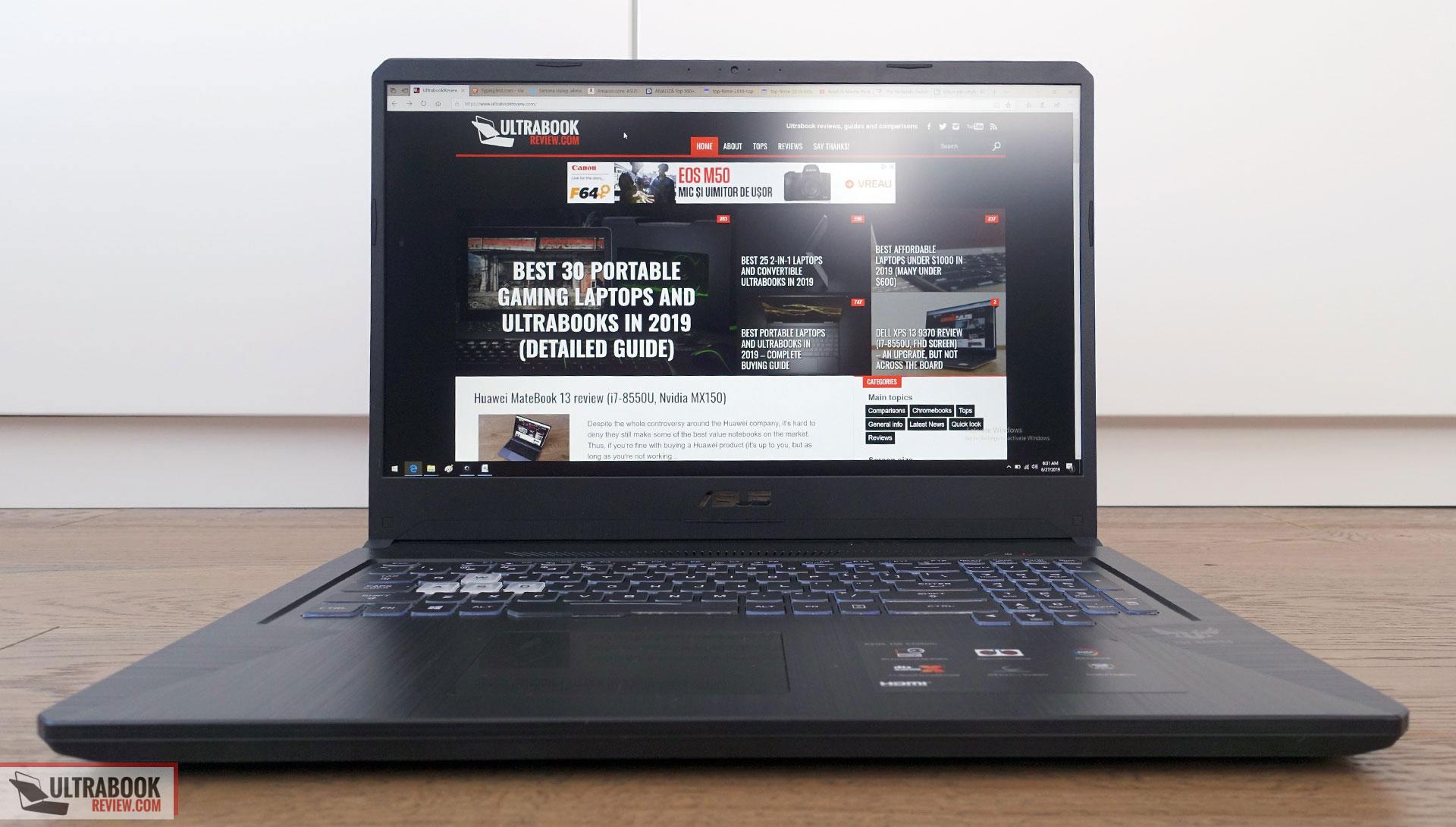 Asus TUF Gaming FX705DU review (Ryzen 7 3750H, GTX 1660Ti