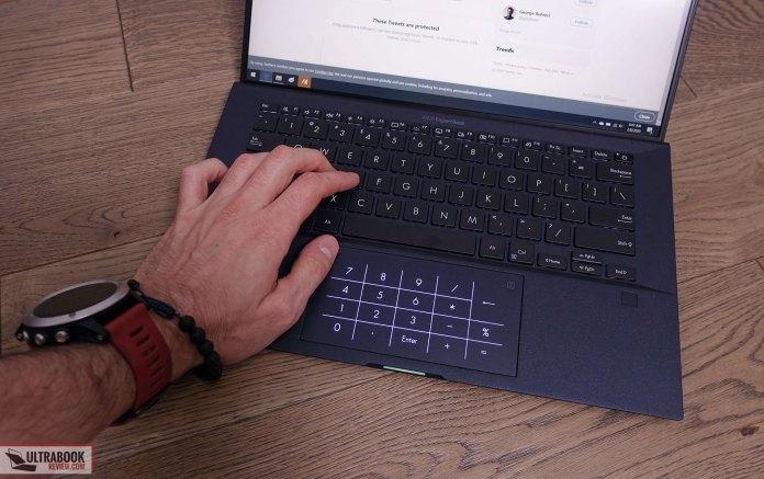 Asus ExpertBook B9450FA - keyboard and clickpad