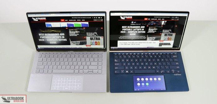 Asus ZenBook 14 - keyboards