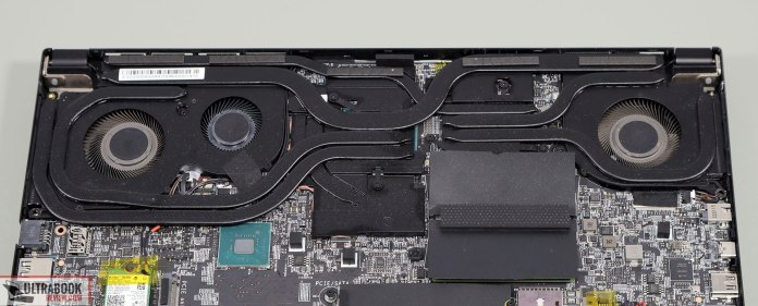 MSI GS66 Stealth thermal module and cooling